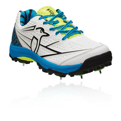 Kookaburra Pro Players Mens White Track Field Cricket Spikes Shoes Trainers