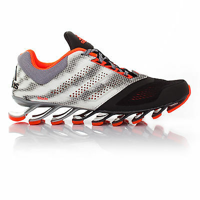 Adidas Springblade Drive 2 Mens White Black Running Sports Shoes Trainers