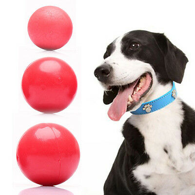 Indestructible Solid Rubber Ball Pet Dog Training Chew Play Fetch Bite Toy BU