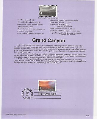USA FDC USPS First Day Souvenir Pages: 2000:GRAND CANYON