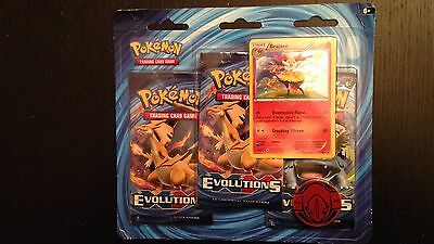 Pokemon XY Evolutions Booster Packs w/Braixen Foil Card