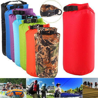 8/15/75L Waterproof Dry Bag Pouch Water Resistant Canoe Boating Kayaking Camping