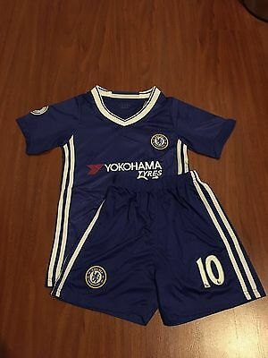 Chelsea Blue 2017 Jersey And Shorts Kids Set Youth #10 Hazard Kids Set Home
