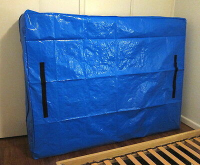 Mattress Storage Bag with Handles - Tarp Construction with Zipper