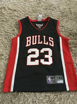 #23 Grey Chicago Bulls Kids Jersey Basketball Michael Jordan Kids Youth