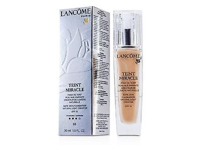Lancome Teint Miracle Foundation Natural - #03 Beige Diaphane 30ml NEW
