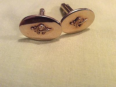 Vintage Masonic/Shriners Scimitar Gold Tone Cuff Links