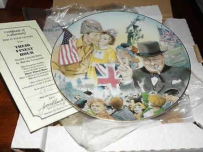 Hamilton Their Finest Hour Collectors Plate WWII This is your victory  551B