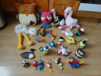 Bundle Of 24 Plush Soft BIRDS 14 inches High max