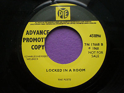 THE POETS Looked In A Room UK REPRO 45 PYE 2004 Mod FREAKBEAT Psych 1968