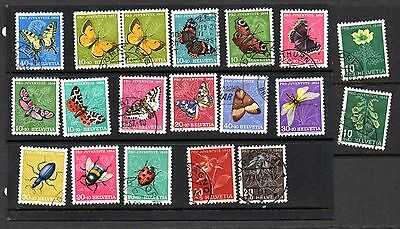 Switzerland - Pro Juventute mixed postage stamps from 1940s & 1950s mainly used