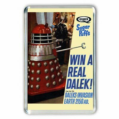 RETRO 60's -DALEKS INVASION EARTH 2150 AD-SUGAR PUFFS ADVERT JUMBO FRIDGE MAGNET
