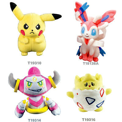 Tomy Pokemon 7 Inch Plush Toys - Angry Pikachu , Togepi , Hoopa or Sylveon Soft