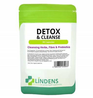 Detox & Cleanse Cleaning Herbs Konjac + Probiotics 90 capsules dairy/gluten free