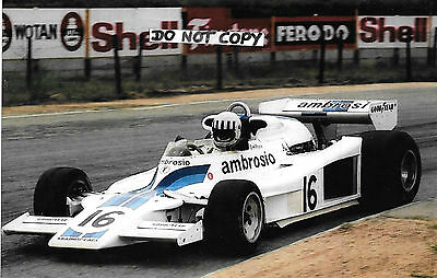 9x6 Photograph  Tom Pryce , Shadow DN8  South African GP Kyalami 1977