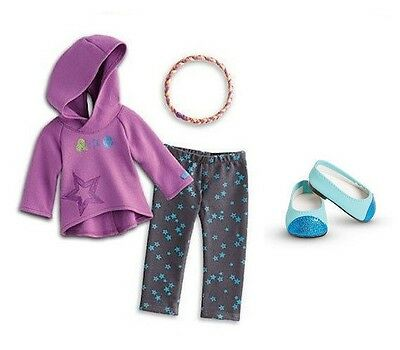 """American Girl Starry Hoodie Outfit set headband for 18"""" doll NEW truly me"""