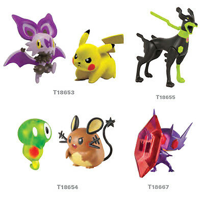 Pokemon Battle Action 2'' Figures - Pikachu Zygarde Dedenne Mega SableEye & More