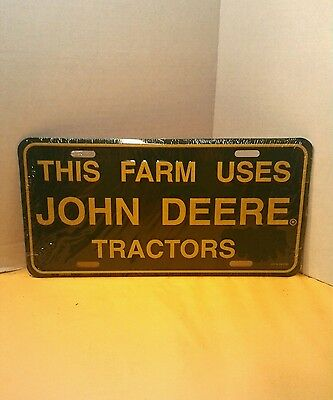 John Deere Tractor License Plate, collectable, Metal