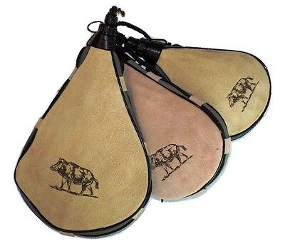 Leather Bota Bag Spanis Water Wine Skins Camping Hiking Canteen Wild Boar Gift