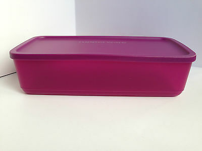 Tupperware Low Rectangle Storer / Container - Purple - Brand NEW - Very Handy!!