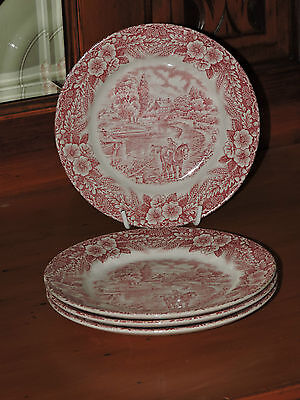 4 VINTAGE The Constable Series Bicentennial 1776 -1976 Side Plates Collectable