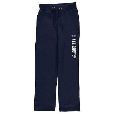 Lee Cooper Classic Closed Hem Jogging Bottoms Girls Navy 13 Xlg
