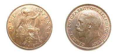 George V 1916 Bronze Penny - Very High Grade