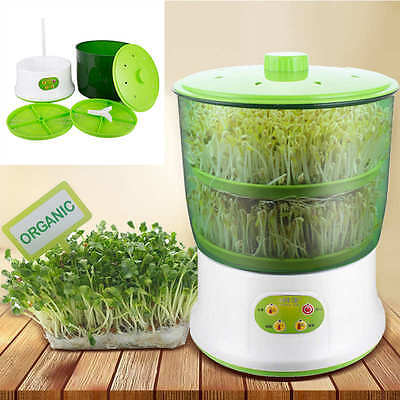 220-240V Multi-functional Double Layer Homemade Automatic Bean Sprouts Machine