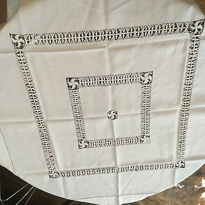 Vintage drawn thread tablecloth.