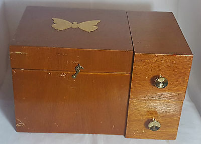 Beautiful Vintage Wooden Sewing Box.