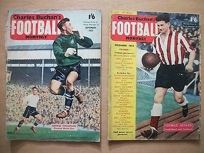 CHARLES BUCHAN'S 'FOOTBALL MONTHLY'. 2 ISSUES. Nos.49 & 52, SEPT & DEC 1955