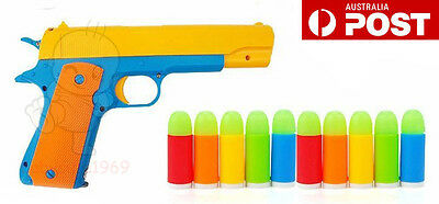 Rubber bullet Toy Gun Semi-automatic Pistol 1911 Not For Children under 6 years