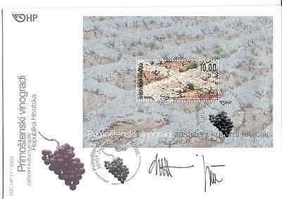 Croatia - First Day Cover 2003 ''Grapes''