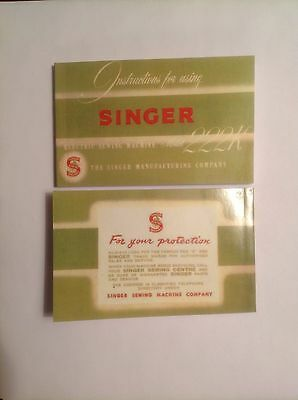 Singer 222K Sewing Machine Instruction Manual With Free Shipping!