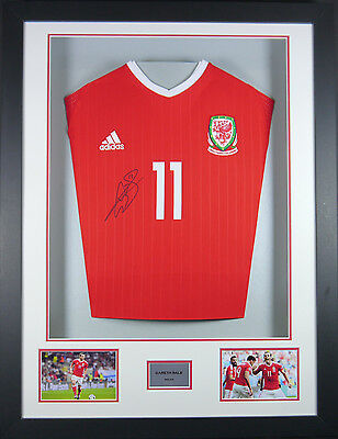 Bale Wales Signed Shirt 3D Frame with COA