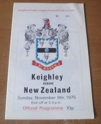 1975 - Keighley v New Zealand, Touring Match Programme