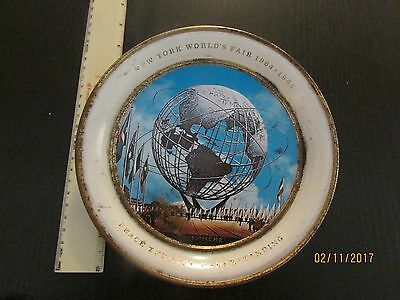 1964-1965 New York Worlds Fair Tin Metal Plate