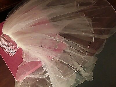 Ivory Bridal Wedding Veil with comb