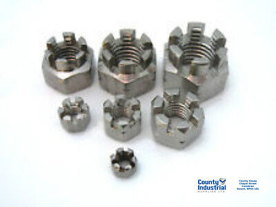 Castle Nuts Metric M8, M12, M24, M30