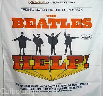 THE BEATLES Help! HUGE 4X4 banner poster tapestry cd album cover
