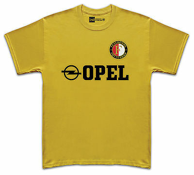 Feyenoord 1984 Opel No.8 Gullit retro T-shirt size Medium