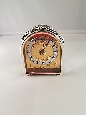 Antique Solid Silver Carriage Clock