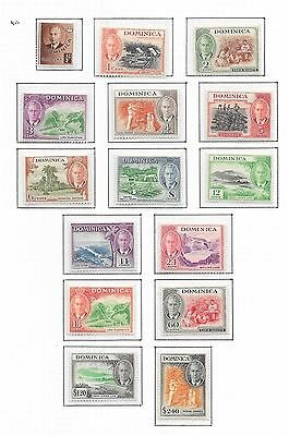 Dominica stamps 1951 SG 120-134  MLH  VF