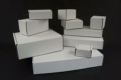 White Postal Cardboards Boxes Mailing Shipping Cartons Small Parcel Royal Mail