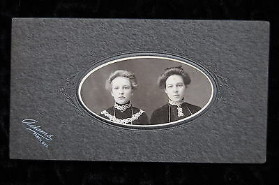 Vintage Cabinet Card Photo 2 Young Girls Perth Ontario Antique Photograph