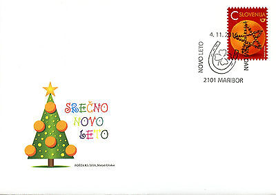 Slovenia 2016 FDC New Year Value C Orange with Cloves 1v S/A Set Cover Stamps