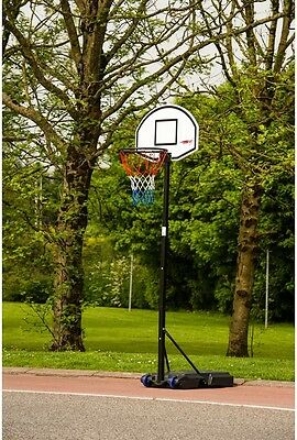 Portable Basketball Stand Blow Moulded Backboard Steel Rim Height Adjustment