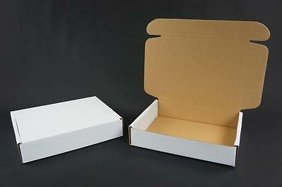 50 White Postal Cardboard Boxes Mailing Shipping Cartons Small Parcel Mail AP12