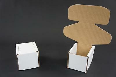 100 White Postal Cardboard Boxes Mailing Shipping Cartons Small Parcel Mail AP13