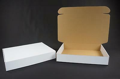 50 White Postal Cardboards Boxes Mailing Shipping Cartons Small Parcel Mail AP11